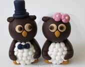 Custom Owl Wedding Cake Topper