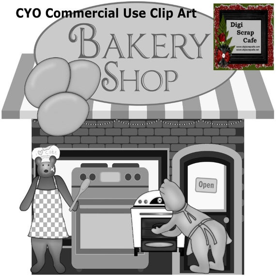 Bakery Bears Cook Kitchen scrapbook transparent clip art graphics commercial use png