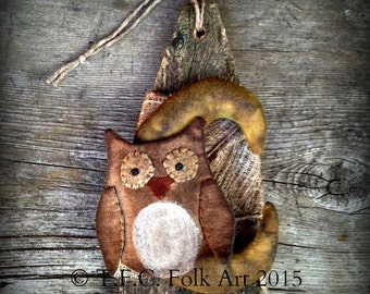 Harvest Moon Owl E-Pattern