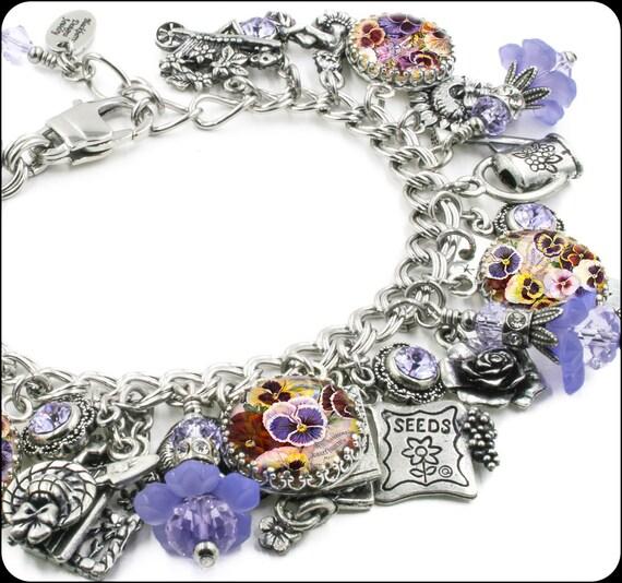 Garden Charms: Secret Garden Charm Bracelet, Silver Charm Bracelet