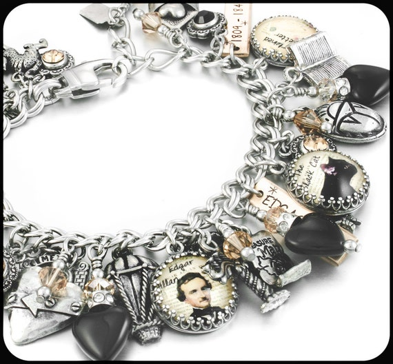 allen jewelry edgar allen poe literary jewelry author jewelry poe 8231