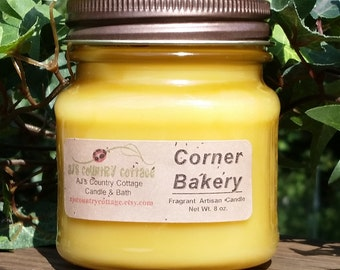 CORNER BAKERY CANDLE - Highly Scented - Baking baked goods pastries cookies cakes pies dough batter butter vanilla