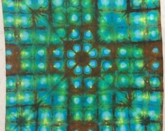 spot light - 1 yard HAND DYED FABRIC - Tuscan Rose Modern Shibori Cotton - 4033