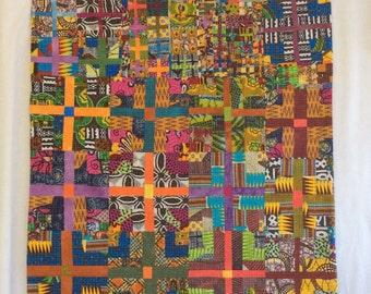 Improvisational Quilt - Stella - original Art Wall Hanging