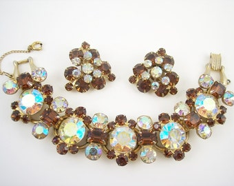 SALE Vintage Juliana Rhinestone Bracelet Set