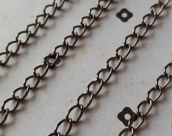 5 FT. Gunmetal chain 3.5x5mm