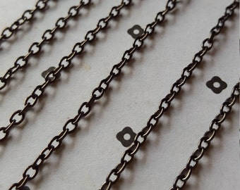 5 FT. Gunmetal chain 3x4mm