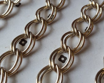 5 FT. Silver plated chain 12x17mm
