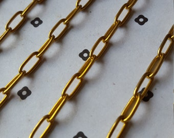 5 Ft. Gold plated chain 4x10mm