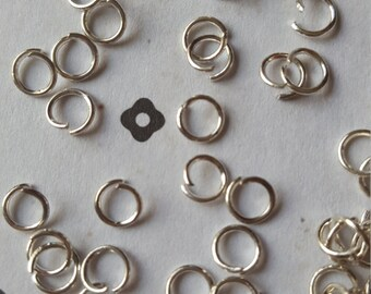 300 5mm Silver plated jumprings