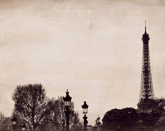Time and Again - Eiffel Tower, Paris Art Print, Paris Travel Landscape Photography by Leigh Viner