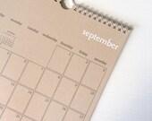 2016 kraft wall calendar