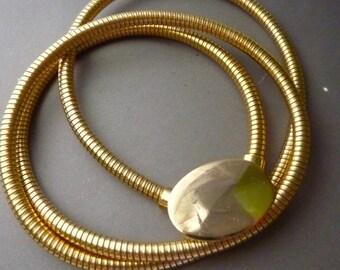 Belt - Gold Snake Chain - Flexible Vintage 24 in