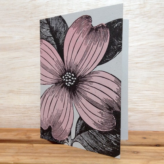PINK DOGWOOD Greeting CARDS Farmers Market Letterpress Card Pack of 8