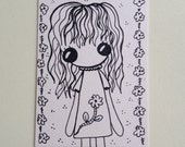 Flower Girl ACEO original