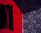 DIY Fabric and notions Red & Black for 1 BRA and BRIEF by Merckwaerdigh