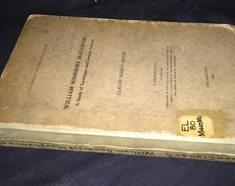 1936 William Somerset Maugham Book