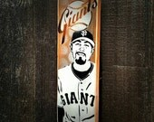 Sergio Romo Graffiti Painting on Canvas Pop Art Style Original Artwork Stencil Urban Street Art SF Giants Artwork World Series Champions