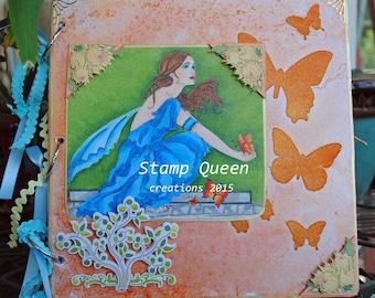 Fall butterflies - altered journal