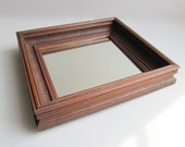 Vintage Wall Mirror Rustic Mirror With Wood Frame Hanging Mirror