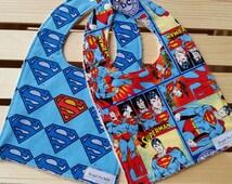 Superman Bib Set / Super Hero Baby Bibs / Baby Boy Bibs / Baby Bibs / Baby Gifts