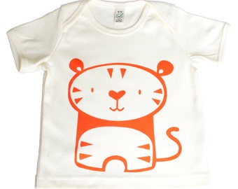 Tiger organic cotton baby t shirt