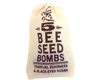 Guerrilla Gardening Honey Bee Seed Bombs for Garden Bombing to Grow Colorful Wildflowers