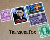 MOVIE MONSTERS .. Unused Vintage Postage Stamps .. Enough to mail 10 letters