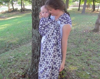 Tekhni Wrap Conversion Ring Sling- Laurel Napa WCRS - Repreve blend - woven ring sling, baby, toddler carrier, DVD included