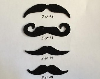 TWO PACK Mustaches, Select Your Own Mustache Pack, Moustaches, Moustache, Halloween, Fake Mustache, Adhesive Mustache, Party Favors, Stache