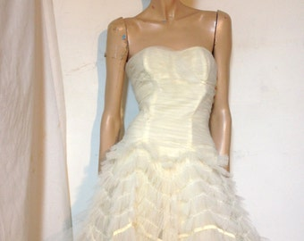 Vintage Prom Wedding Dress 50s Formal Size XS to S *