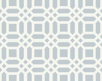 Vivid Lattice Grey Home Decor Riley Blake Cotton Fabric by the Yard