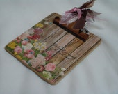 POST It NOTE magnetic mini CLIPBOARD Shabby Chic