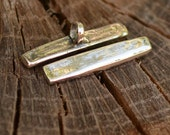 Chunky Sterling Silver Toggle Bar
