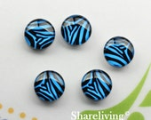 Leopard Glass Cabochon, 8mm 10mm 12mm 14mm 16mm 18mm 20mm 25mm 30mm Black Turquoise Skin Photo glass dome -- BCH257M