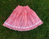 Red Gingham Skirt Women's xs