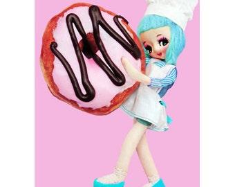 donut girl print 5 x 7 Doughn't It Look Good?