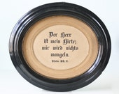Antique Frame with German Bible Verses