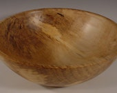 Spalted Sweet  Gum Wood Bowl Hand Turned Wooden Bowl Art 6016