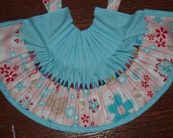Twice as nice floral Crayon apron