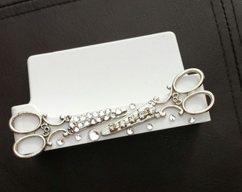 Gypsy HairStylist Business Card Holder/Scissors