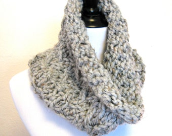 Large Chunky Cowl - Grey Marble