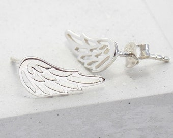 Stud Earrings | Wing Earrings, Angel Wing Earrings, Studs, Post Earrings, Small Stud Earrings, Post Earring, Earring Studs, Sterling Silver