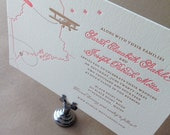 Letterpress Wedding Invitations, Couture Custom Invitations, Sample