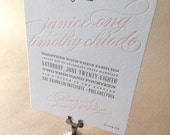 Letterpress Wedding Invitations, Sample