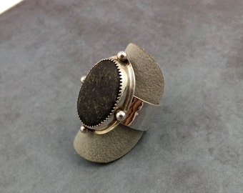 Sterling Silver River Rock Ring