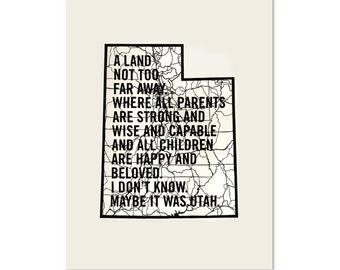 Maybe It Was Utah - Screenprint of Original Papercut
