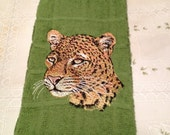 Leopard Embroidered Hand Towel