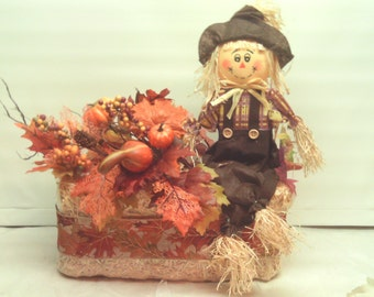 Autumn Arrangement- Fall Arrangement -Scarecrow Arrangement