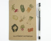 Allotment notebook with squared paper (100% recycled) A6